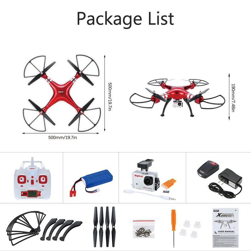 Duży dron Syma X8HG RC, wersja RTF, kamera 8MP za 62$ (~233zł) - TomTop