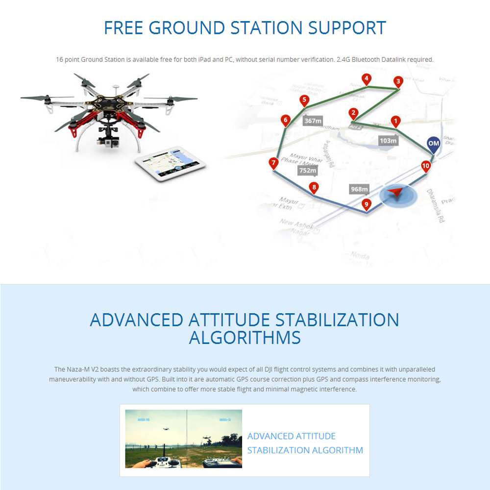 Original DJI NAZA-M V2 Mulirotor Flight Control System with GPS Module  Combo Set for FPV RC Quadcopter Multicopter - RcMoment com