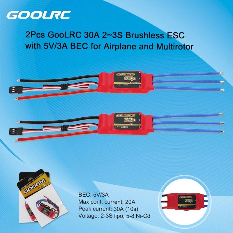 GoolRC 30A 2~3S Brushless Simonk ESC Electronic Speed Controller ...
