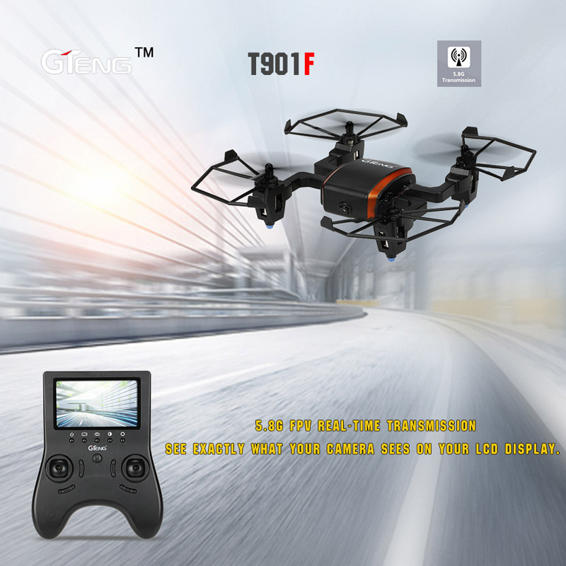 Get  $27  Off For Original GTeng T901F Flying Spider 5.8G FPV RC Quadcopter with 720P HD Camera and Headless Mode RTF with code   Only $81 +free shipping