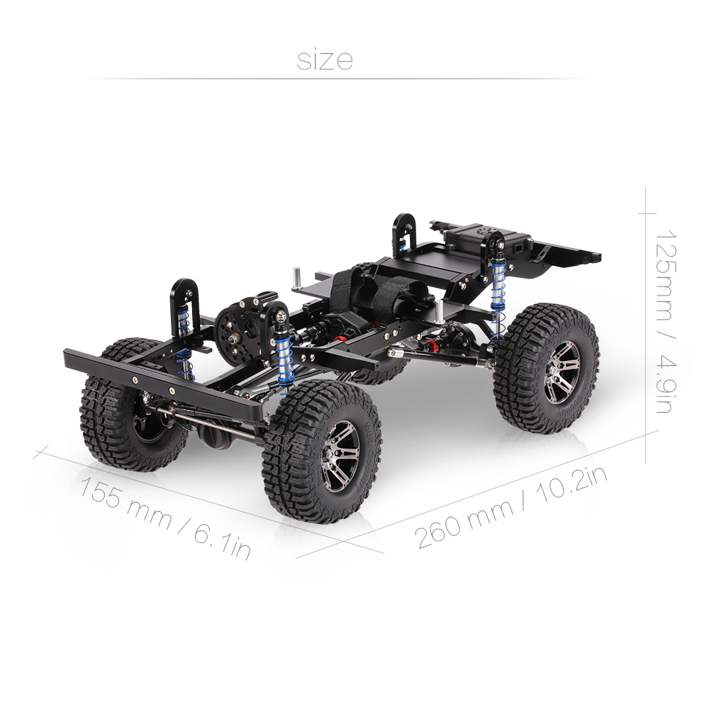 AX-D9001 All metal CNC Frame for 1/10 D90 Rock Crawler RC Car KIT ...