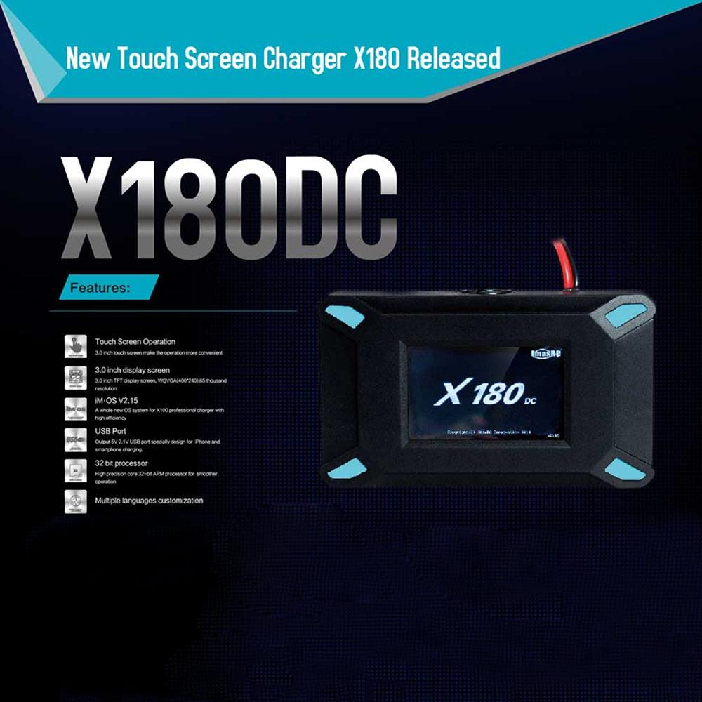 cran imaxrc x180dc 180w tactile d 39 origine solde chargeur d chargeur pour batterie lipo li ion. Black Bedroom Furniture Sets. Home Design Ideas