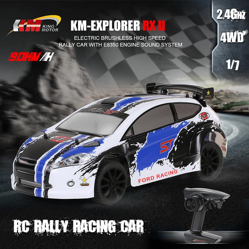 $579.99 For KM-Explorer RX II 1/7 2.4G 4WD High Speed RC Rally Racing Car with code EDM6412