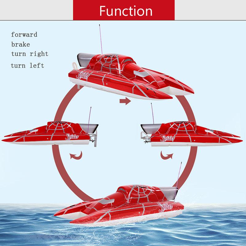 Original VANTEX Super Yacht 1200BP (Red Spider) 60km/h High Speed Electric  Fiberglass RC Boat with FS-GT2 2 4G Transmitter - RcMoment com