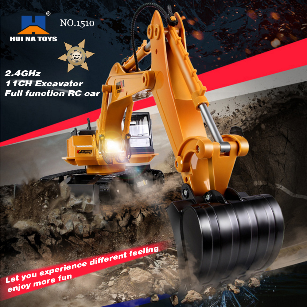 Get 14.99$ off for  HUI NA TOYS NO.1510 Alloy Engineering Electronic Excavator  White Only 35$ with code  +