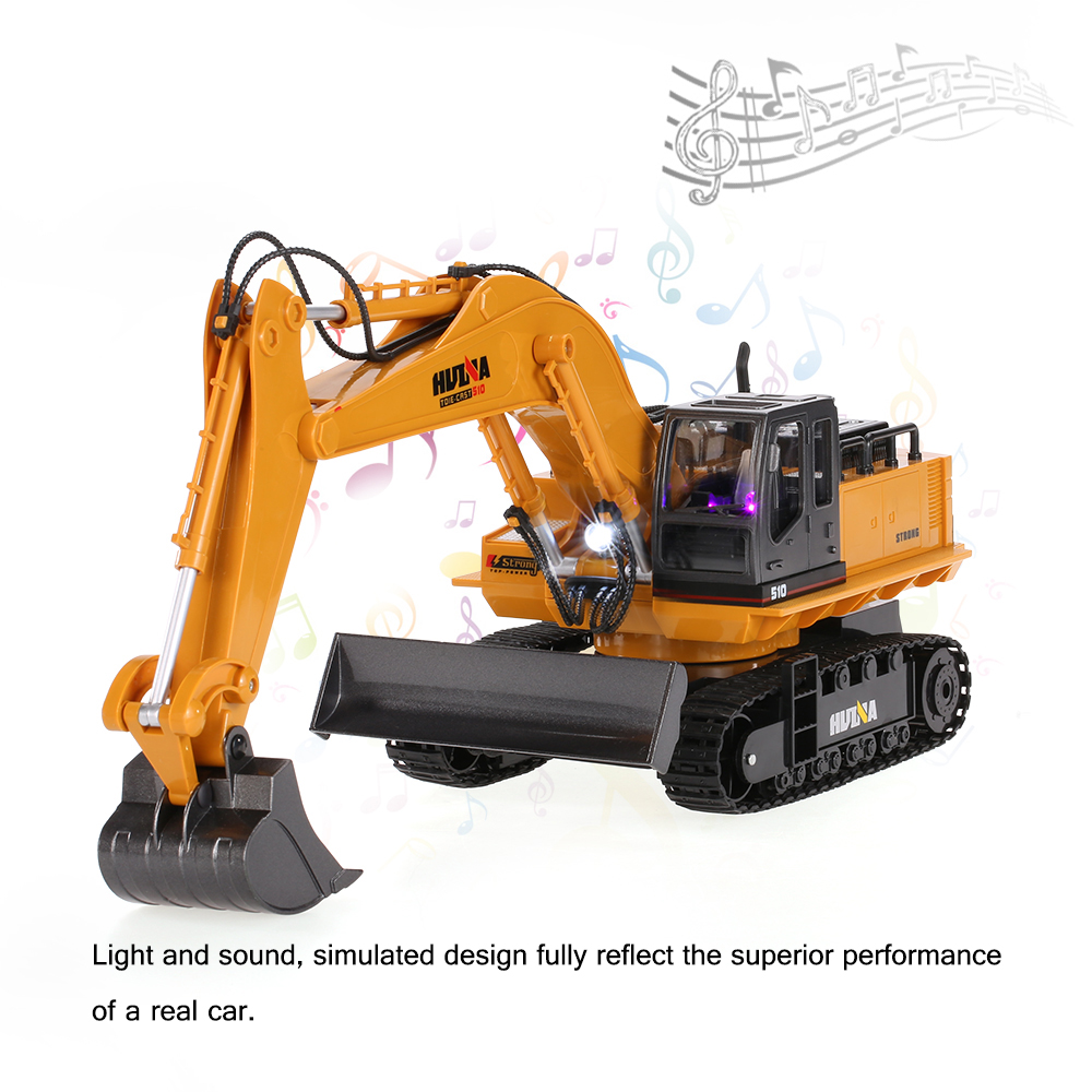 Get  $20 Off For HUI NA TOYS NO.1510 Alloy Engineering Electronic Excavator Heavy Machinery 2.4GHz 11CH RC Toys Car Truck with code  Only $39.99 +free shipping