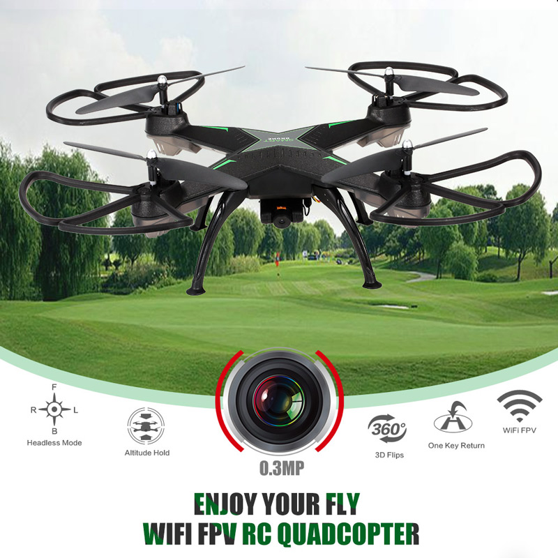 Get 5$ off for YI HENG YH10HW 0.3MP Camera WIFI FPV Drone Only 35.99$ with code  +