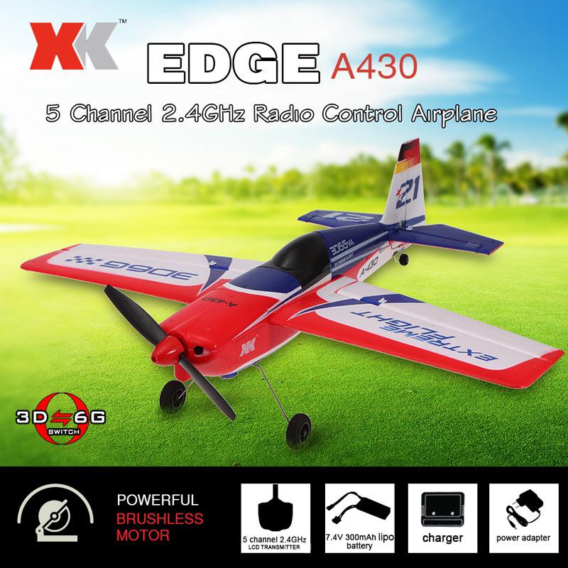 Модель самолёта XK A430 (EDGE 540) с бесколлекторным мотором в полной комплектации с 6G стабилизацией