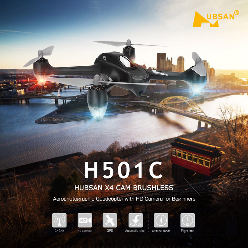 Get 20$ off Original Hubsan  X4 Drone Brushless GPS Altitude Hold Mode RC Quadcopter with 1080P HD Camera