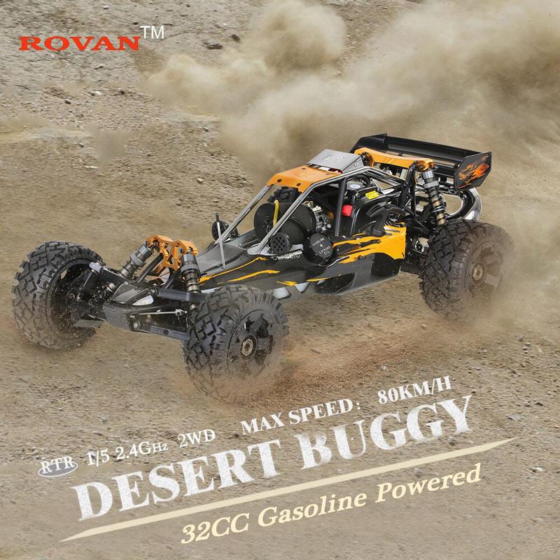 Get 100$ off  Rovan Baja320-02 32cc 2-Stroke Single-cylinder 1/5 2.4GHz 4CH Gasoline Powered car
