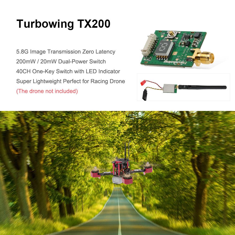 Original Turbowing TX200 5 8G 200mW 40CH Mini Wireless AV Transmitter for  RC Drone FPV Racing Quadcopter - RcMoment com