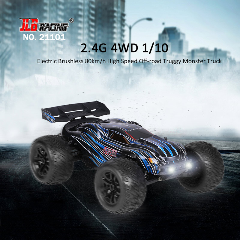 Get $45 Off For Original JLB Racing 21101 1/10 2.4G 4WD Electric Brushless 80km/h High Speed Off-road Truggy Monster Truck RTR RC Car  with code  Only $224.99 +free shipping