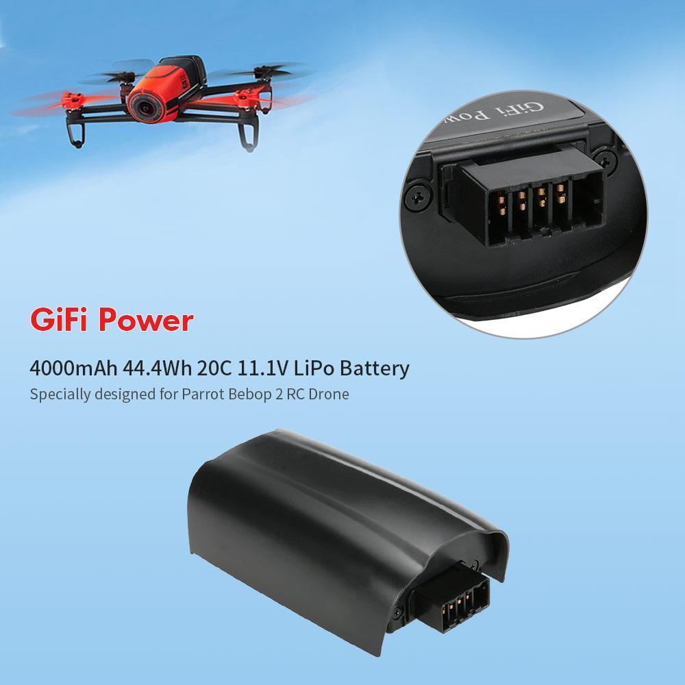 GiFi Power 4000mAh 44 4Wh 20C 11 1V LiPo Battery for Parrot Bebop 2 RC Drone