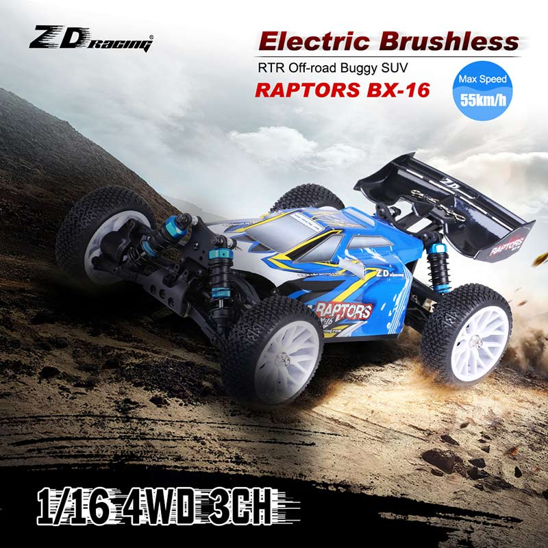 Get  $7  Off For Original ZD Racing RAPTORS BX-16 1/16 4WD Electric Brushless RTR Off-road Buggy SUV with 2.4G 3CH Remote Control with code   Only $102.99 +free shipping