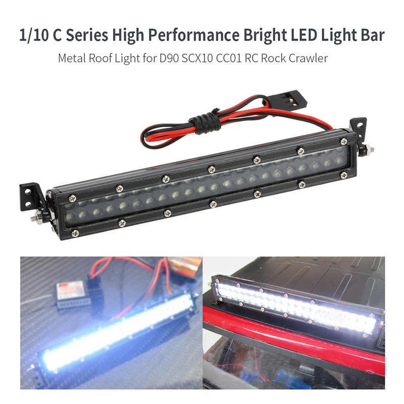 Best 1/10 C Series Bright LED Light Bar Metal Roof Light