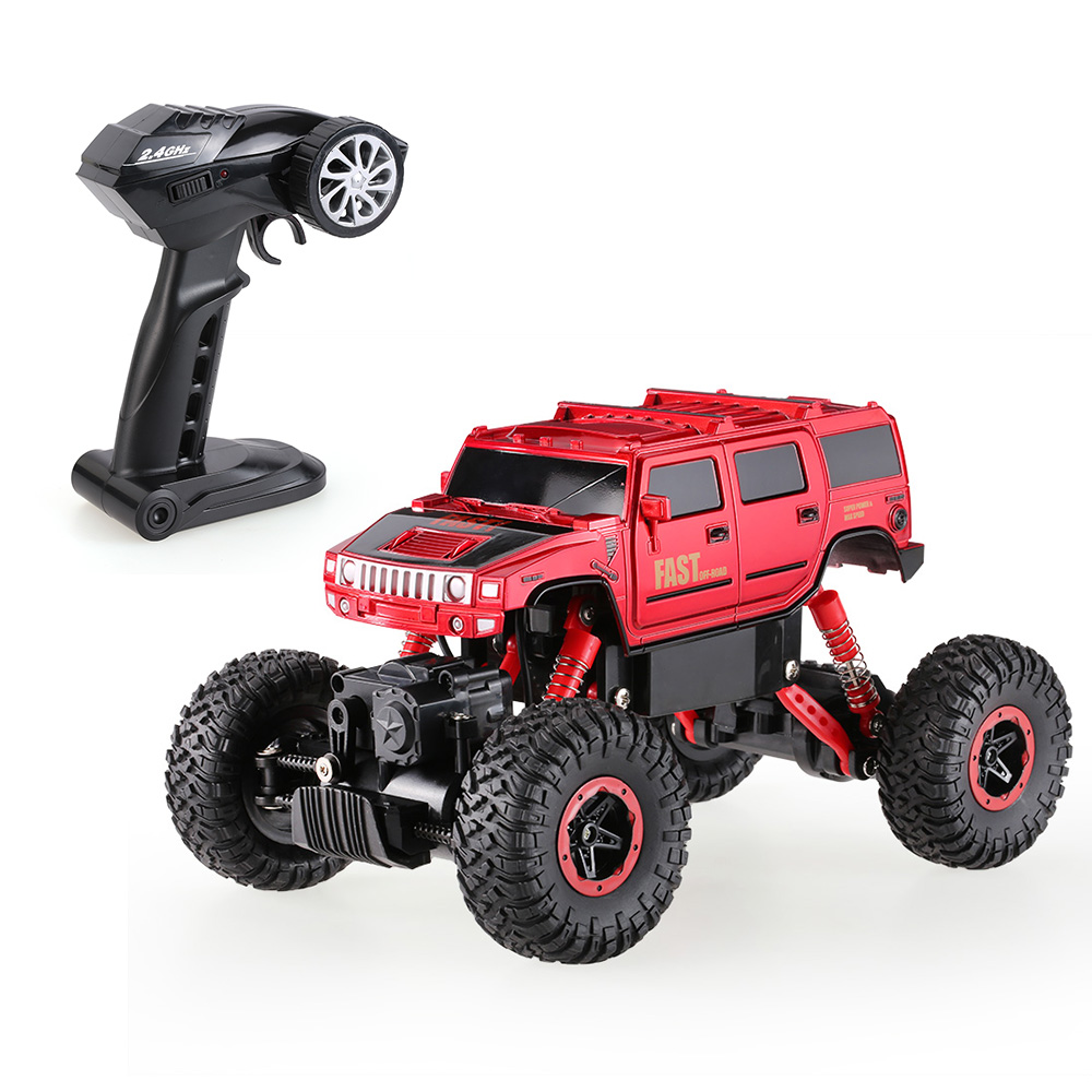 6005 1 2 4ghz 4wd 1 16 hummer fast speed rtr rock crawler rc car for sale us red eu tomtop. Black Bedroom Furniture Sets. Home Design Ideas