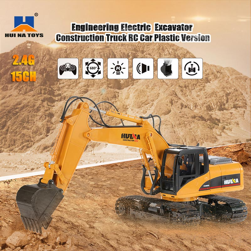 Get 10$ off  HUI NA TOYS 2.4GHz  Engineering Electric Excavator Construction Truck Plastic RC Car