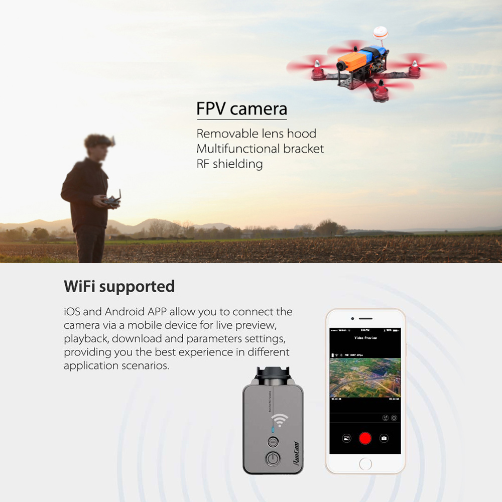 RunCam 2 1080P HD WiFi 120 Degree FPV Camera