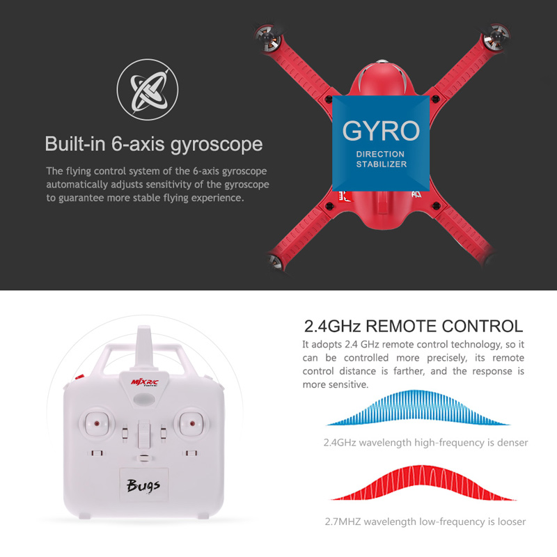 Get $24 Off For MJX Bugs 3 Drone Support Gopro&XiaoYi Action Camera with code  MIXR24 Only $95.99 +free shipping