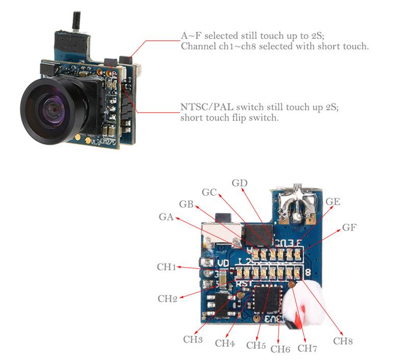 CM275T 5.8G 25mW 48CH NTSC/PAL Mini VTX FPV Camera for Blade ... on drone accessories, drone parts diagram, drone tools,