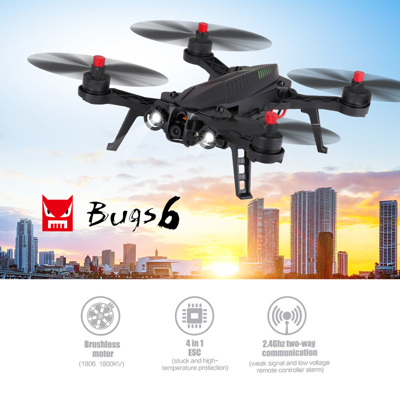 Extra 4 USD Off For MJX Bugs 6 B6 720P Camera 5.8G FPV Drone 250mm Wheelbase  Brushless Racing Quadcopter