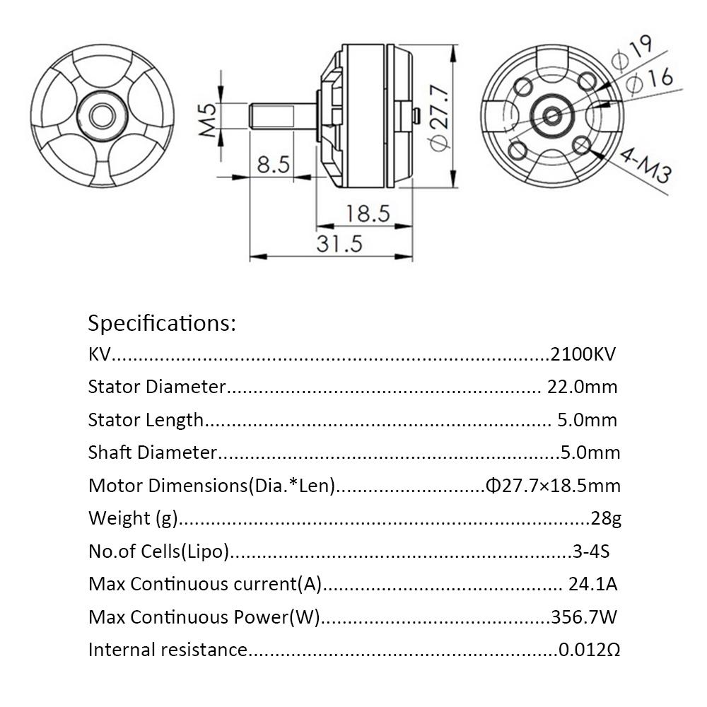 2Pcs DYS MR2205 2100KV CW/CCW Brushless Motor with Wrench for QAV250 210  300 Racer 250 FPV Racing Quadcopter Multirotor - RcMoment com