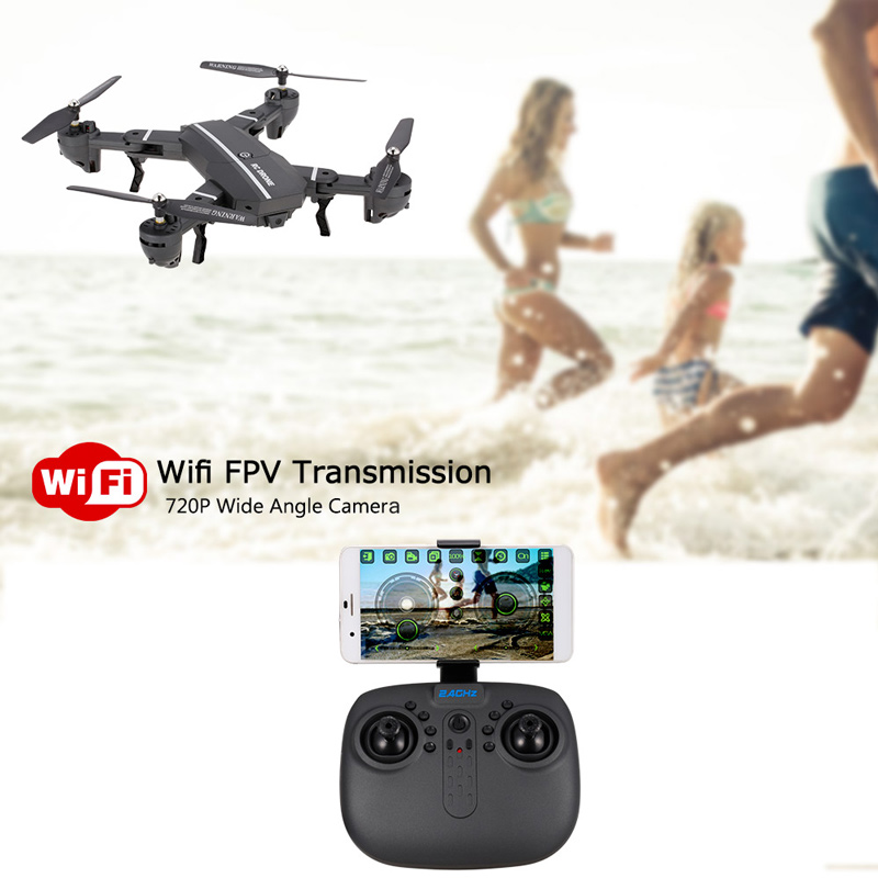 Get  $5  Off For  720P Wide Angle Camera Wifi FPV Foldable Drone 6-Axis Gyro Altitude Hold Headless Mode G-sensor RC Quadcopter with code  Only $44.99 +free shipping