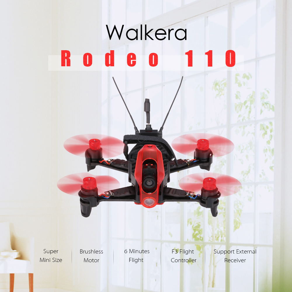 Get $17  Off For Original Walkera Rodeo 110 Tiny Micro 5.8G FPV Racing Quadcopter F3 Flight Controller Brushless Indoor Drone BNF with code   Only $119.99 +free shipping