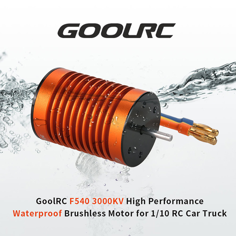 Get 10$ off GoolRC Upgrade Waterproof F540 3000KV Brushless Motor with 45A ESC Combo Set for 1/10 RC Car Truck