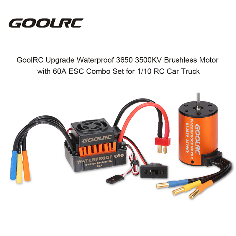 RM7720 1 01 goolrc upgrade waterproof 3650 3500kv brushless motor with 60a esc
