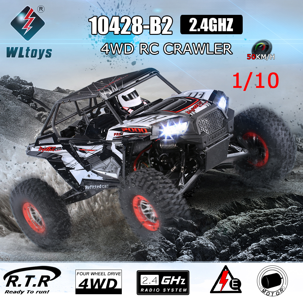 Extra 10 USD Off For WLtoys 10428-B2 1/10 2.4G 4WD Electric Rock Crawler Off-Road Buggy Desert Baja RC Car RTR