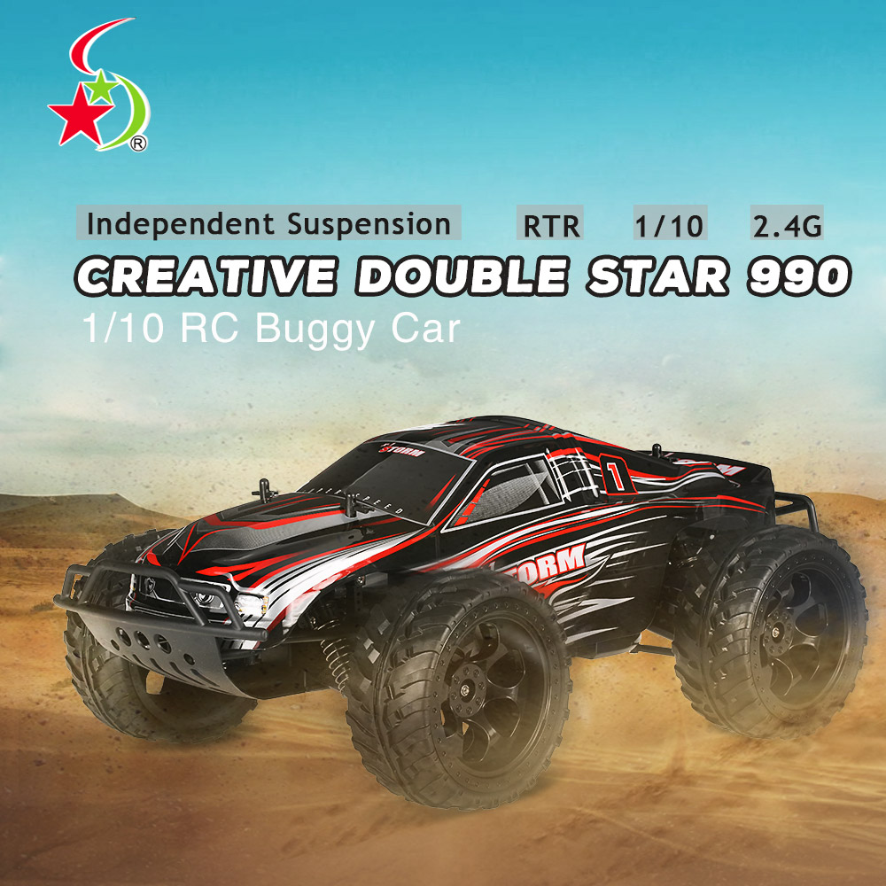 Get  $29.09  Off For Creative Double Star 990 1/10 2.4G 4WD Rock Crawler Off-road Truggy RC Monster Truck Buggy Car RTR with code   Only $65.99 +free shipping