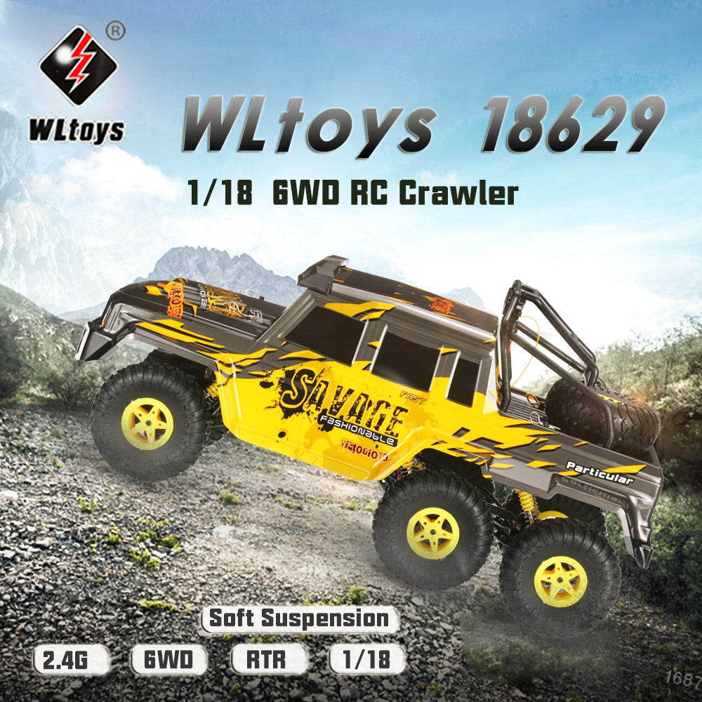 Get  $12  Off For Wltoys 18629 1/18 2.4G 6WD Electric Off-Road Rock Crawler Climbing RC Buggy Car RTR with code  Only $41.99 +free shipping