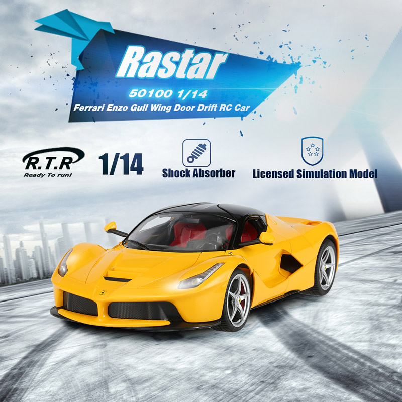 It features a full proportion 1/14 scale of Ferrari Enzo and it has Gull Wing Doors as well. Itu0027s beautiful glamorous super cool and stylish. & yellow Rastar 50100 1/14 Ferrari Enzo Gull Wing Door Drift RC Car ...