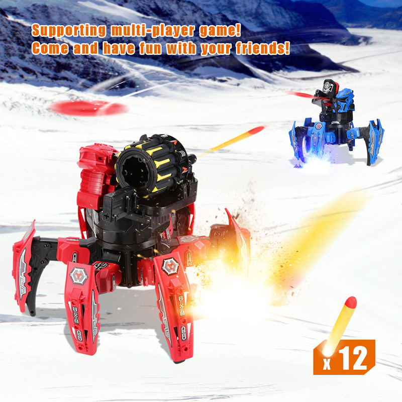 Get 5$ off KEYE Toys 9006-1 2.4G Remote Control Space Warrior DIY Assembly Battle Robot RC Toy