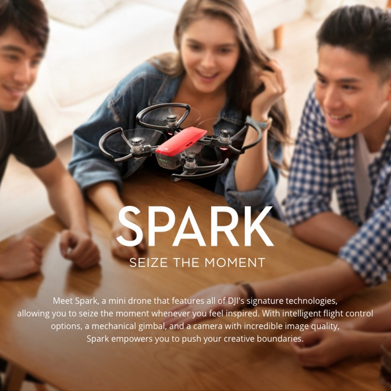 Get 140.99$ off  for DJI Spark 12MP 1080P Wifi FPV Quadcopter Only  399$ with code  +