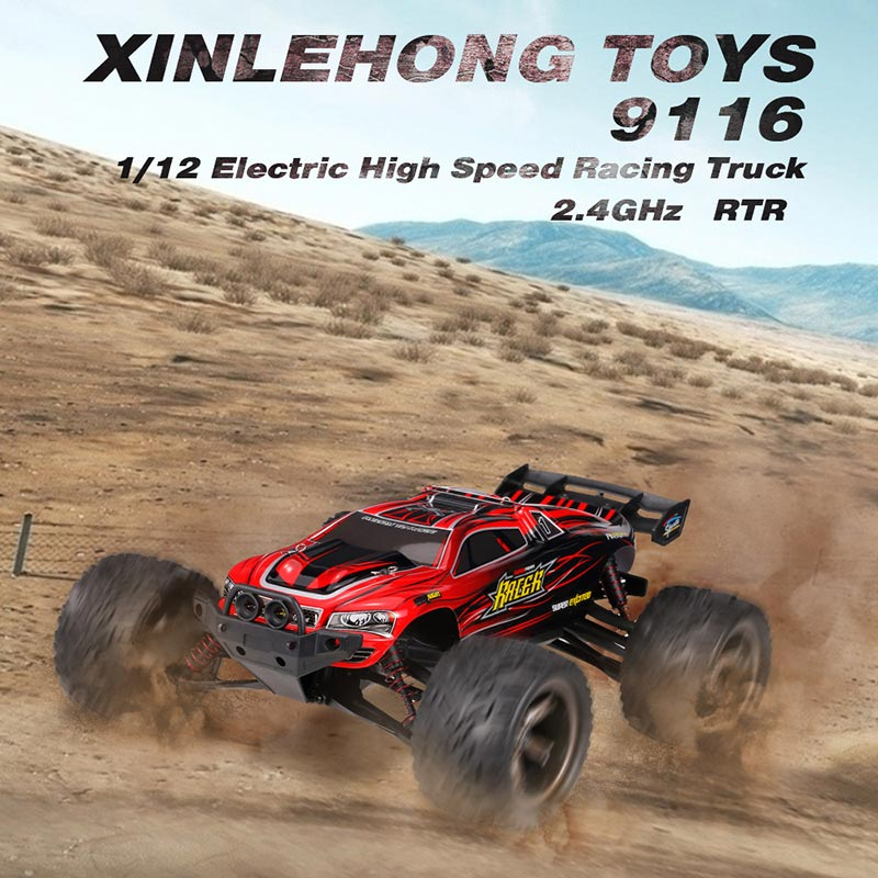 Get  $10  Off For XINLEHONG TOYS 9116 1/12 2.4GHz 2WD Electric High Speed Racing Truck RTR RC Car with code   Only $49.99 +free shipping