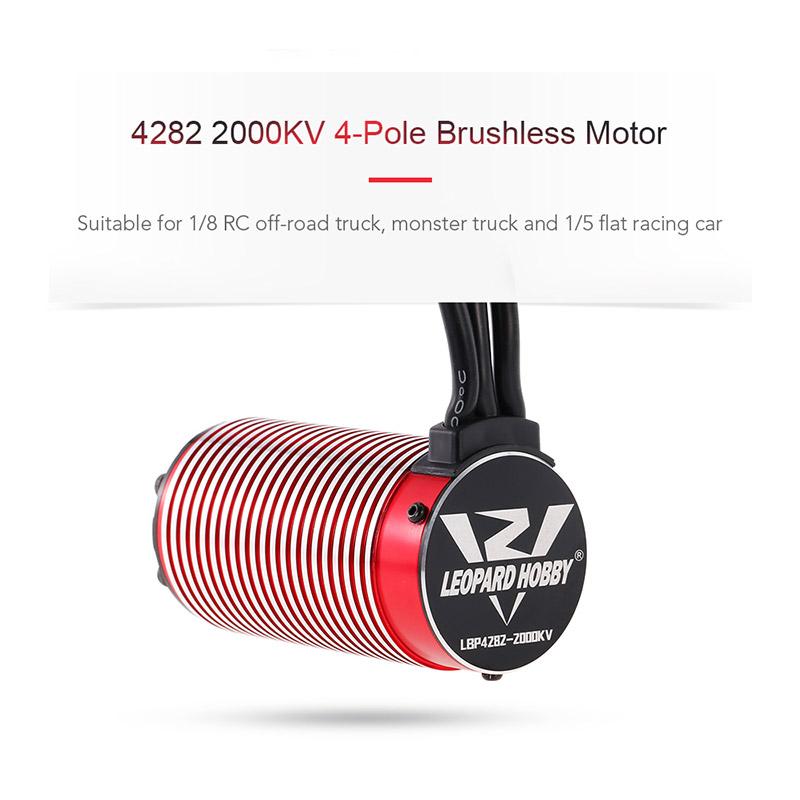 RM8042 1 leopard hobby lbp4282 2000kv 4 pole brushless motor for 1 5 1 8  at suagrazia.org