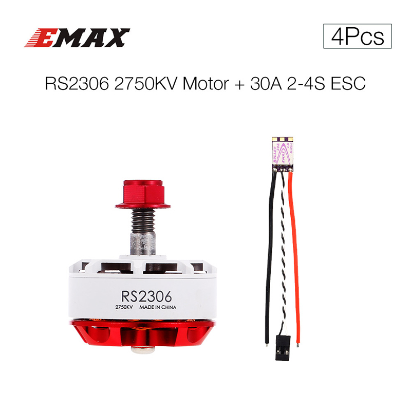 Remote Control Toys Original Rc Motor Rs2306 2750kv White Race Special Edition Brushless Motor 30a Esc Combo For Fpv Rc Quadcopter