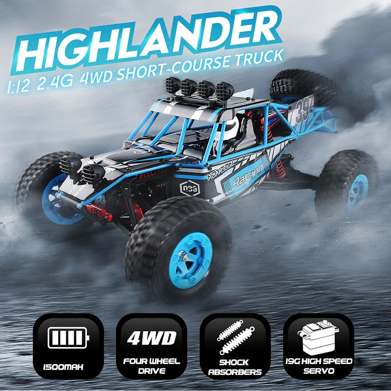 $99.99 For Original JJR/C Q39 2.4GHz 1/12 4WD RTR Desert RC Car with code EDM8278