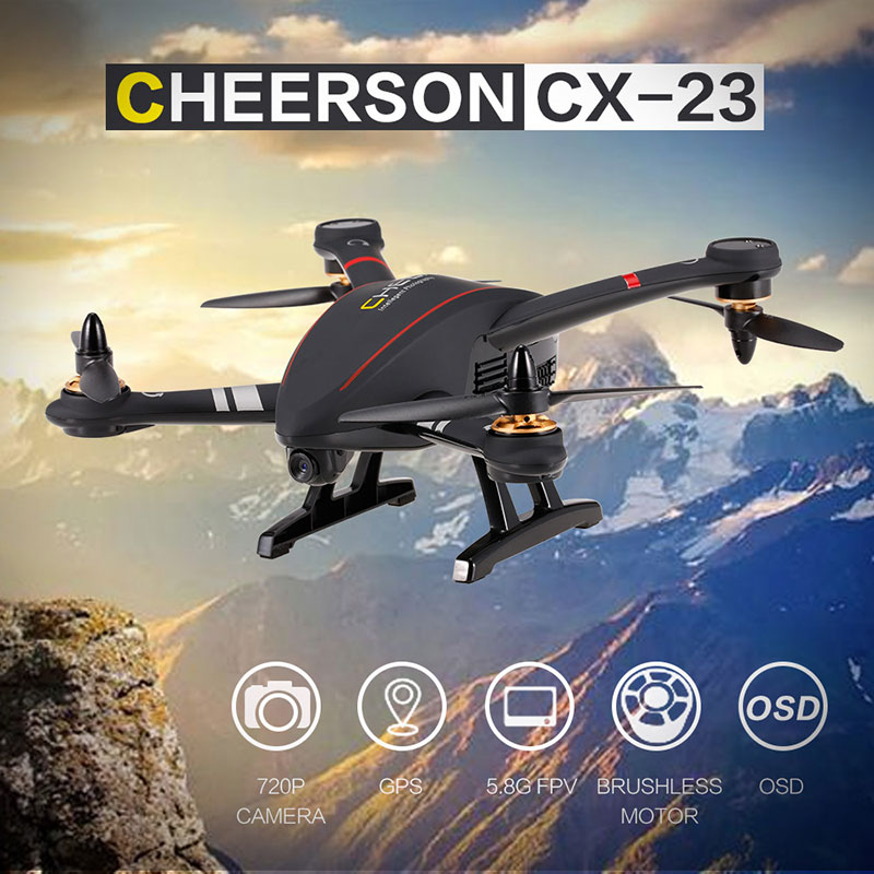 Only $189.99 For CHEERSON CX-23 5.8G FPV 2.0MP Camera GPS Brushless Quadcopter Drone with code EJ8289