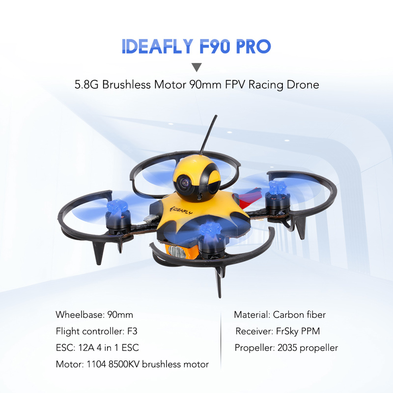 Get $30 Off For IDEAFLY F90 Pro 90mm 5.8G 40CH 600TVL Waterproof FPV Racing Drone 1104 Brushless Motor F3 Flight Controller Frsky Receiver BNF with code   Only $69.99 +free shipping