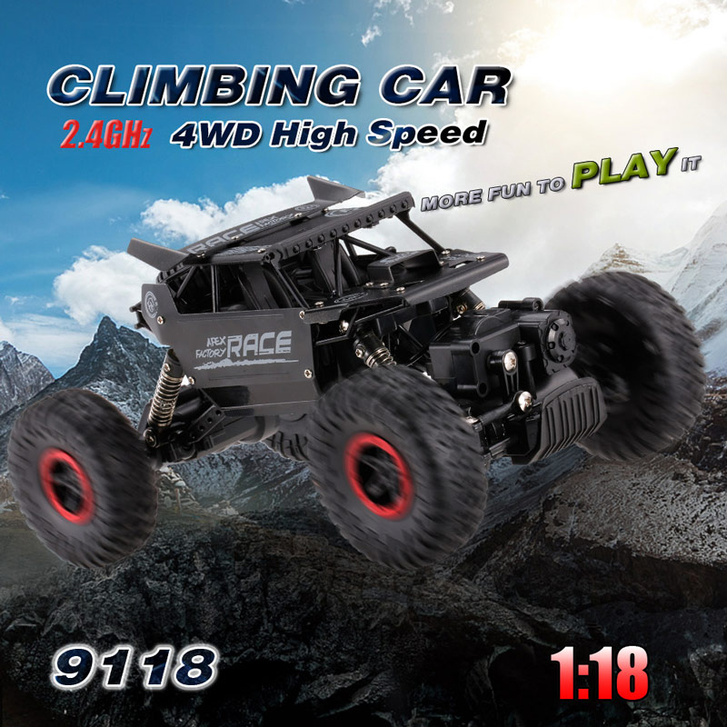 Only 24.99$ for Flytech 9118 1/18 2.4G 4WD Alloy Body Shell Crawler RC Buggy Car