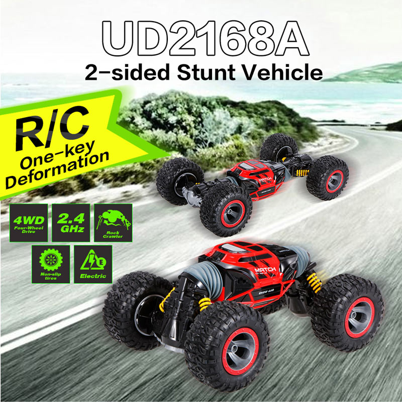 Get  $10  Off For  2.4G 4WD Double Sided Stunt RC Car One Key Deformation Vehicle Monster Rock Crawler Off-road Truck RTR with code   Only $69.99 +free shipping