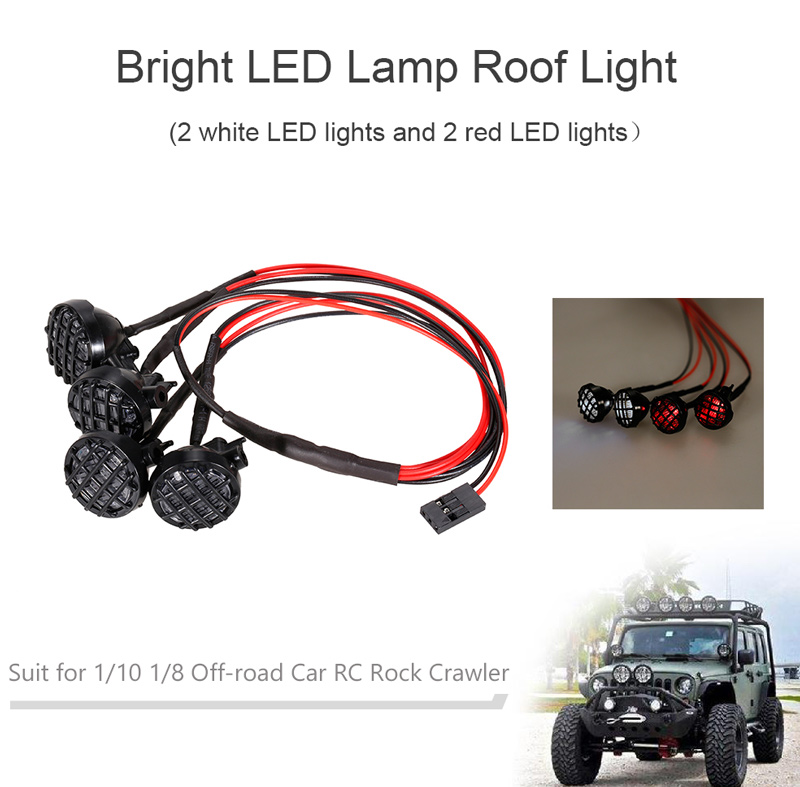 Bright LED Lamp Roof Light for 1/10 1/8 Off-road Car Traxxas HSP ...