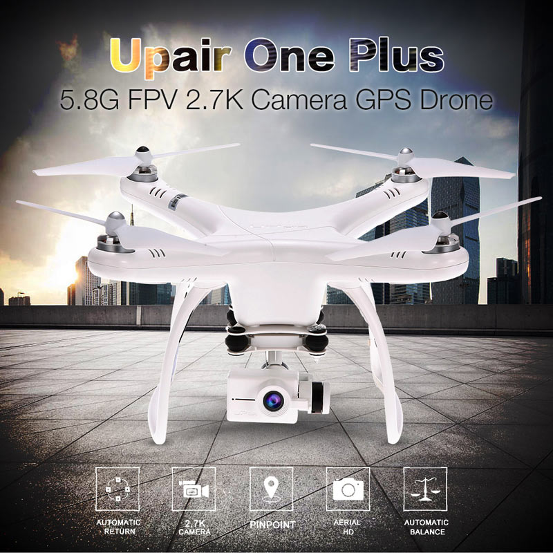 Get 15$ off  Upair One Plus 5.8G FPV 2.7K HD Camera Brushless GPS Drone 2-Axis Gimbal Aerial Photography RC Quadcopter