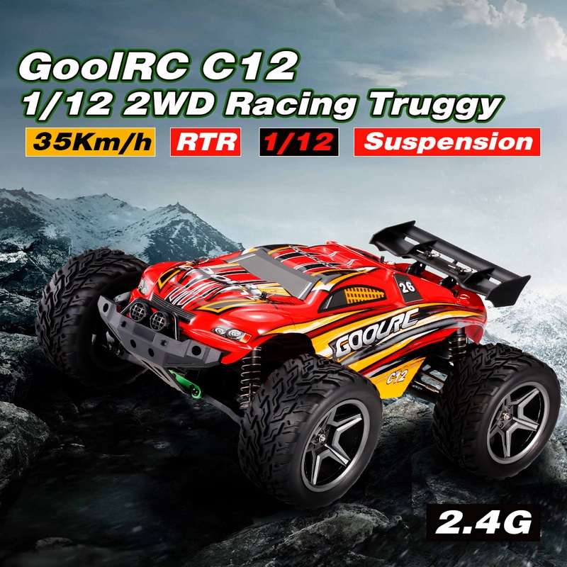 49.99$ for  GoolRC C12 2.4GHz 2WD 1/12 35km/h Brushed Electric Monster Truck