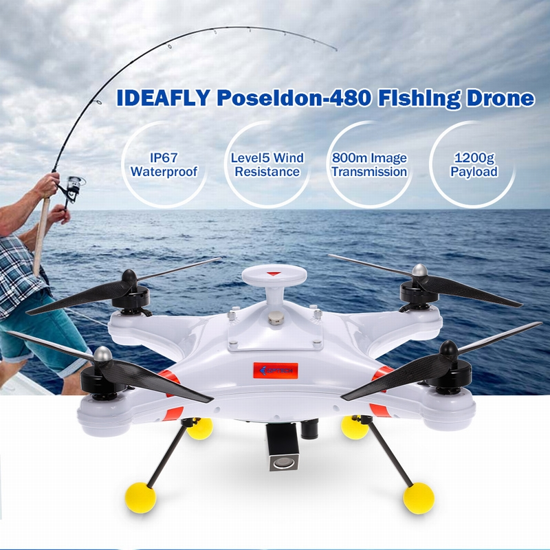 fishing drone ideafly poseidon480 dji drone waterproof 5