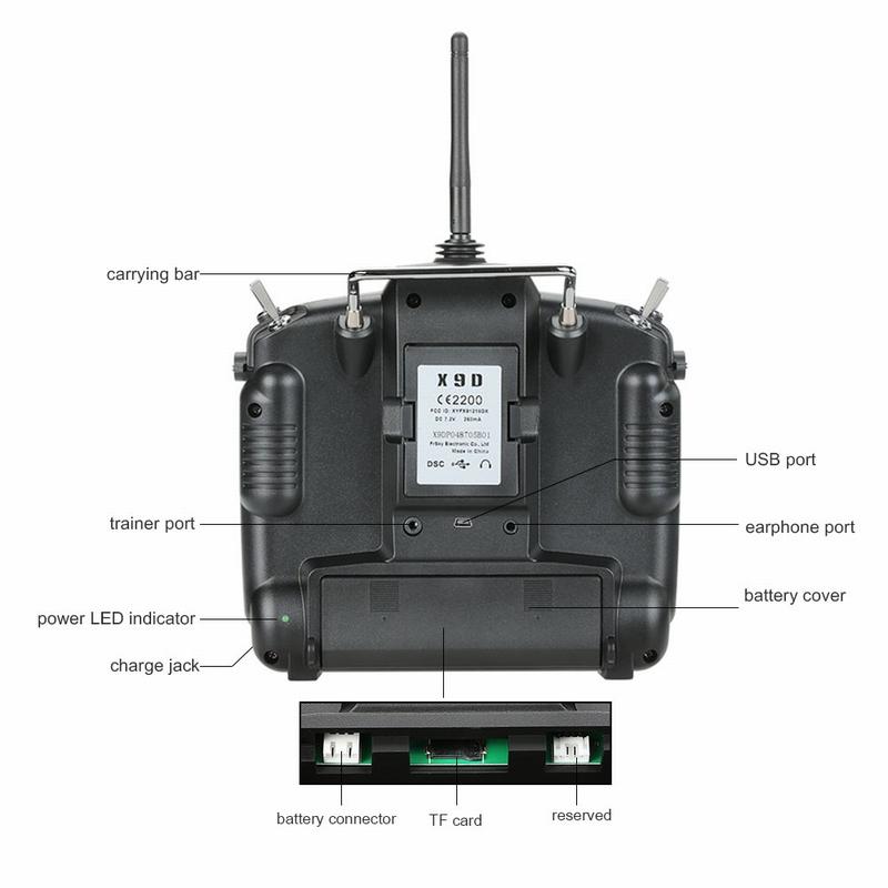 us Original FrSky Taranis X9D Plus 2 4G ACCST 16CH Telemetry Radio  Transmitter Open TX Mode 2 & X8R Receiver - RcMoment com