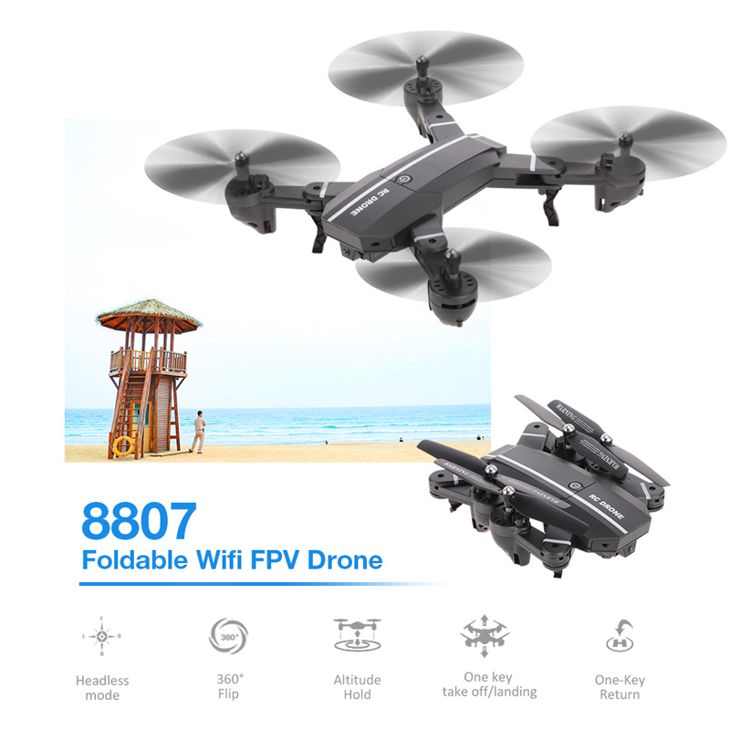 Get $5 off  For 8807 Foldable Drone 6-Axis Gyro Altitude Hold Headless Mode RC Quadcopter Toy with code  Only $39.99 +free shipping